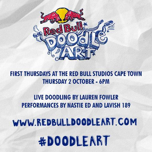 #FirstThursday at the Red Bull Studios featuring Red Bull Doodle Artjpg